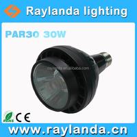 Hot-sell par30 led 110lm/w CRI>80 30w COB led par light used clothing