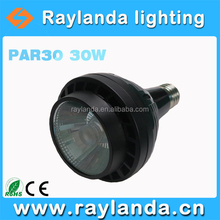 Hot-sell par30 led 110lm/w CRI>80 30w COB led par light used clothing