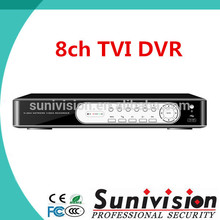 H264 red dvrwith software cms 8ch h. 264 tvi red dvr