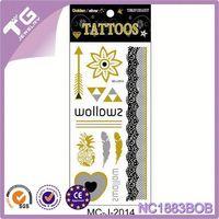 Tattoos Stickers Gold Silver,Metallic Tattoos In Stores,Non Metallic Tattoo Ink