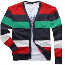 cuello en v de color a juego para hombre suéters imagen