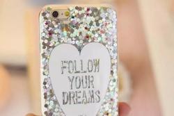Girl like bling loving heart cover ultra-thin tpu case for iphone 6