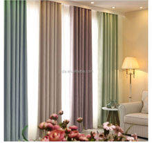 M3014 Mediterranean style linen look sun out curtain designs for bedroom