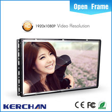 "18.5"" frameless LCD monitor, small size lcd monitor, digital open frame Chinese Xvideos LCD monitor usb media for advertising"