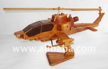 Wooden decorative model - Cobra helicopter