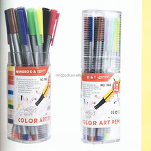 Round shape fine liner pens pvc tube packed set for students