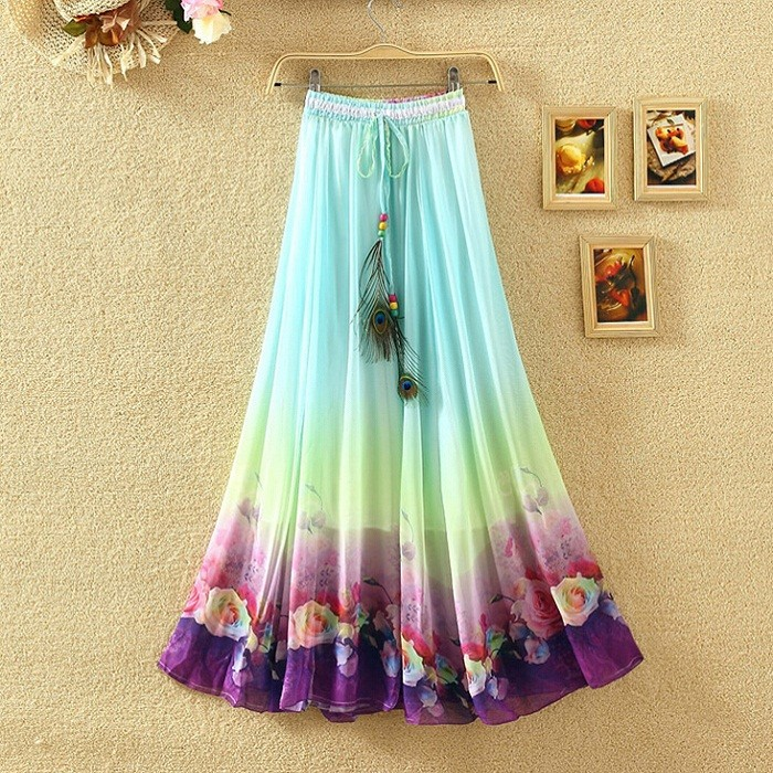 Awesome Clothings Gt Women Gt Indian Skirts Gt Long Skirt  Cotton  Magenta