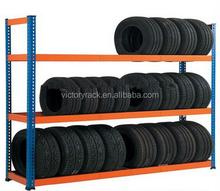 Garage using storage motor Tire rack storage system