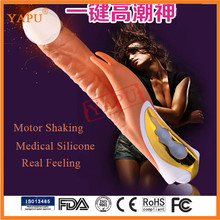 Medical Silicone Adult Toy Sex Toy Lambskin Dildo For Woman