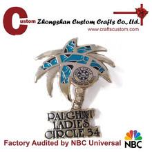 Custom coconut shape perfect enamel metal lapel pin