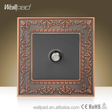 Hot Selling Wallpad Luxury Zinc Alloy Satellite Wall Switch TV Weak Current Wall Socket Satellite Television TV Wall Socket