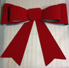 HOT SALE! Large Red Velvet PVC Ribbon Christmas Tree Bow