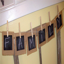 BURLAP & BLACK CHALKBOARD Banner Great Photo Prop Wedding Engagement Baby