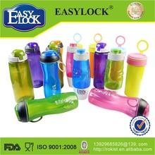 Easylock 600ml children plastic drinking cartoon cup water bottle/pot/kettle with lock
