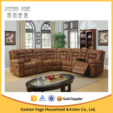 High quality leather recliner corner sofa at reasonable prices