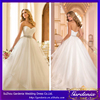Real Sample Long Train Sexy Backless Puffy Ball Gown Alibaba Wedding Dresses China 2015 (ZX570)