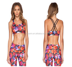 Custom made digital printing women sports bra wholesale