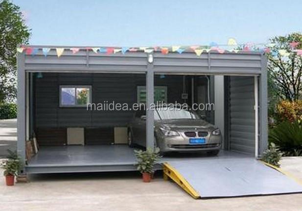 Conteneur de stockage portable container garage maisons for Fondation pour maison container