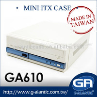 GA610 industrial Compact PC station for mini itx case security system process i7