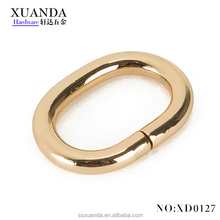 Fashion Oval wire clasp metal belt buckle bag parts accessory
