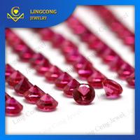 Wuzhou factory ruby prices round brilliant shape ruby