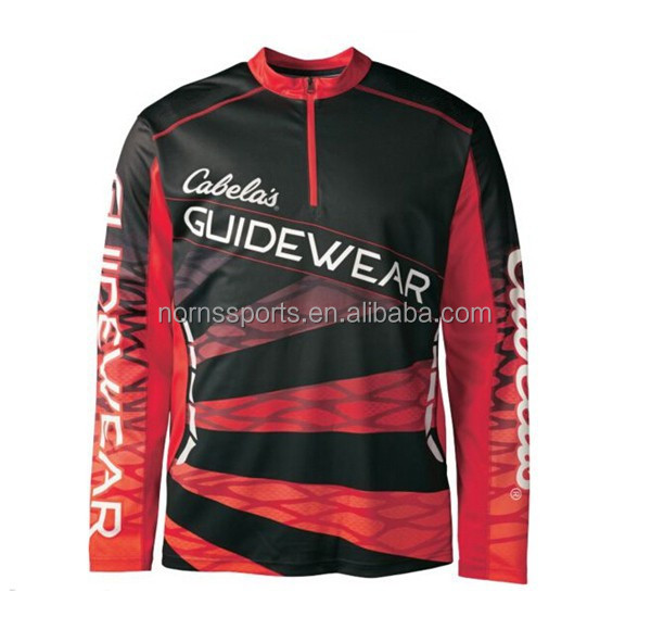 2015 Cheap Custom Full Sublimation Long Sleeve Fishing