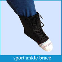 Best selling Ankle Brace Support Lace Up Super Strong Canvas, Black
