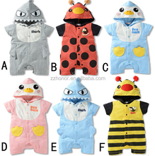 2015 hot sale european design rompers, baby animal design baby clothes, one-piece suit, jumpsuit
