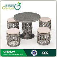 outdoor modern round chess table set
