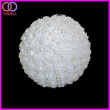 artificial foam flower rose ball wedding decoration