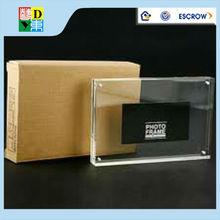 Transparente de doble cara de acrílico marco de fotos conimanes, sin marco de acrílico de la foto framea