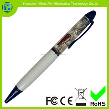 YiHua medical promotional gift pen,metal oil filled liquid pen,Liquid Oil pen with LOGO floater