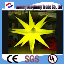 NB-ST2009 Ningbang pretty Inflatable stars Lighting Customized inflatable LED stars for wedding decorations