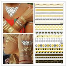 2015 Latest Design Gold Metallic Tattoo Jewelry