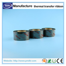 Custom Width 45mm* length 300m Resin ribbon TTR thermal transfer ribbon for wash care labels