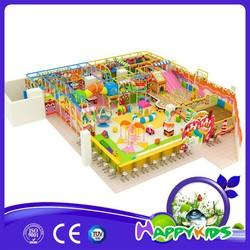 Giant inflatable kids playground, kids playground plastic fort, kids playground plastic slides