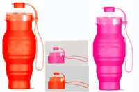 Soft outdoor food grade silicone reusable water bottle