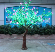 LED color changing light hand painted ceramic xmas tree