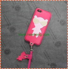 Lanyard soft tpu cover case for iphone6, bear cover case for iphone6