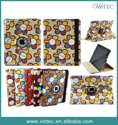 Wholesale PU Leather Rotary Fancy Case for iPad Air