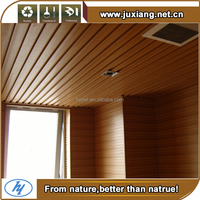 Long life decoration material Eco-friendly design Wpc Ceiling For Garden Use