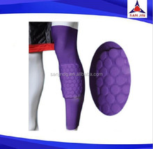 Good quality long leg sleeve knee support brace with pad gym fitness