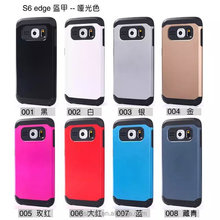2 in 1 hyrbid armor protective cover case for Samsung galaxy s6 edge, fashion & brand new design