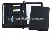 Handmade Leather 2 Ring Binder / high end customized ring binder
