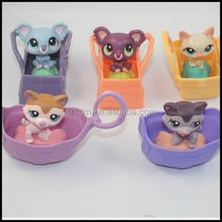 OEM Littlest Pet Shop Action Figure Toy Children's Gift,OEM mini action figure gift for child,custom plastic minifigure maker
