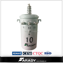 13800V 75kva oil type of pole mounted distribution transformer for single phase line D13 series