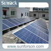 Mounting compatible solar panel structure for roof and ground