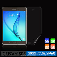 Extremely transparent PET waterproof anti fingerprint screen protector for samsung galaxy tab a 8.0