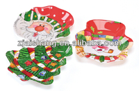 European Fashionable First Rate High Quality food grade plastic christmas plates disposable Bpa free