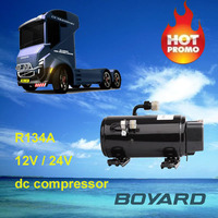 automotive ev aircon parts R134A brushless ac motor 12v/24v dc rotary compressor for roof air conditioner of Low Speed Vehicles